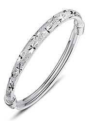 cheap -Women's Bangles Friendship Movie Jewelry Fashion Bohemian Sterling Silver Circle Jewelry ForWedding Anniversary Birthday Party/Evening