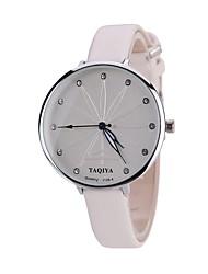 abordables -Mujer Cuarzo Reloj de Pulsera Chino Gran venta PU Banda Encanto Caramelo Casual Reloj creativo único Elegant Moda Negro Blanco Azul Rojo