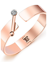 cheap -Japanese and Korean simple rose gold bracelet female bailio fashionable temperament horizontal bar is inserted into the bracelet bracelet bracelet