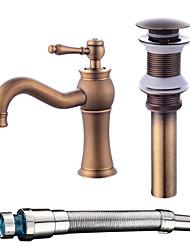 cheap -Centerset One Hole Antique Copper, Faucet Set