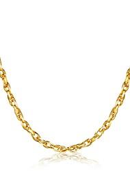baratos -Homens Geométrica Gargantilhas - Chapeado Dourado Luxo, Clássico, Rock Dourado Colar Para Natal, Festa, Graduação
