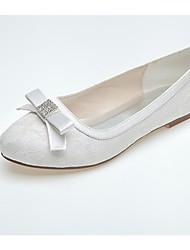 cheap -Women's Wedding Shoes Comfort Lace Spring Fall Wedding Party & Evening Rhinestone Flat Heel Royal Blue Blushing Pink Black White Flat