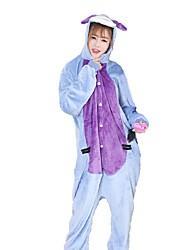 Pyjama Kigurumi  Âne Combinaison Pyjamas Costume Flanelle Bleu Cosplay Pour Adulte Pyjamas Animale Dessin animé Halloween Fête /