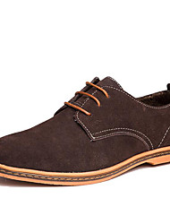 Men's Shoes Nubuck leather Winter Comfort Formal Shoes Oxfords Lace-up For Wedding Casual Party & Evening Office & Career Black Brown Blue