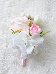 economico -Bouquet sposa Fiore all'occhiello Matrimonio Organza Raso 10 cm ca.