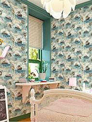 Mappa Formale Stampe Sfondo Per la casa Retrò Rivestimento pareti , PVC / Vinile Materiale Auto-adesivi sfondo , Carta da parati
