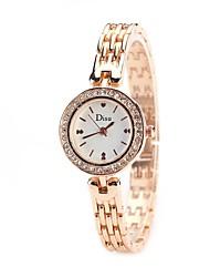 cheap -Women's Quartz Simulated Diamond Watch Wrist Watch Chinese Imitation Diamond Alloy Band Charm Heart shape Casual Dress Watch Elegant