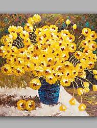 Peint à la main A fleurs/Botanique Grande occasion Style artistique Artistique Style classique Un Panneau Toile Peinture à l'huile