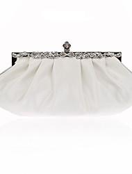 billige -Dame Tasker polyester Aftentaske Krystaldetaljering / Draperet Rosa / Vin / Marineblå / Bryllup tasker / Bryllup tasker