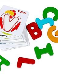 scheda cognitiva per l'educazione infantile in parallelo giocattolo blocco di legno jj7701-0533