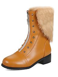 Недорогие -женская обувь из кожзаменителя осень зима мода ботинки боевые сапоги сапоги короткая каблук круглый носок серебристый сапоги заклепка