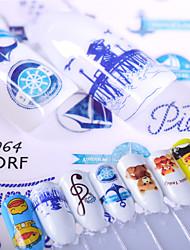 4 Autocollant d'art de clou Motif Accessoires 3D Produits DIY Autocollant Maquillage cosmétique Nail Art Design