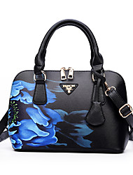 cheap -Women's Bags PU Shoulder Bag Pattern / Print for Casual Office & Career All Seasons Blue Red Purple Light Green