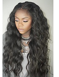 cheap -Human Hair Lace Front Wig Wig Brazilian Hair Wavy Layered Haircut / With Baby Hair 130% Density Natural Hairline / For Black Women / 100% Virgin Women's Short / Medium Length / Long Human Hair Lace