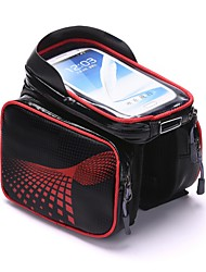 Bicycle Cycling Bike Front Frame Bag Tube Pannier Double Pouch for Under 5.5inch Cellphone Bicycle Accessories