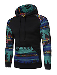 cheap -Men's Daily Sports Casual Hoodie Color Block Hooded Stretchy Cotton Polyester Long Sleeve Winter Spring Fall