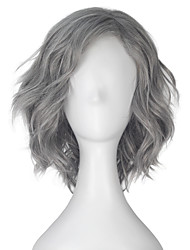 cheap -Men Synthetic Wig Capless Short Loose Wave Grey Lolita Wig Party Wig Halloween Wig Carnival Wig Cosplay Wig Natural Wigs Costume Wigs