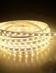 4M 220V  Higt Bright LED Light Strip Flexible 5050 240SMD Three Crystal Waterproof Light Bar Garden Lights with EU Power Plug