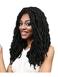 """cheap -Dread Locks Hair Braid Curly Ombre Braiding Hair 100% Kanekalon Hair Black 18"""" 1 Braiding Hair Hair Extensions"""