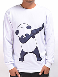 cheap -Men's Daily Sports Casual Active Street chic 3D Print Round Neck Sweatshirt Regular, Long Sleeves Fall Polyester