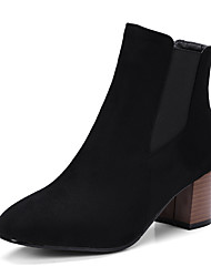 Women's Shoes Nubuck leather Leatherette Fall Winter Fashion Boots Bootie Boots Chunky Heel Closed Toe Booties/Ankle Boots Animal Print