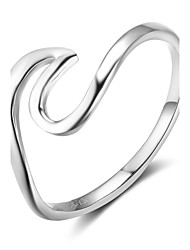 cheap -Women's Band Rings Geometric Sterling Silver Line Jewelry For Birthday