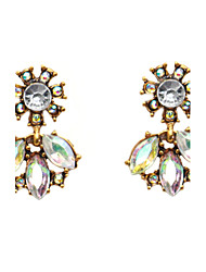 cheap -Women's Drop Earrings Synthetic Opal Rhinestone Basic Fashion Alloy Flower Jewelry White Party Work Costume Jewelry
