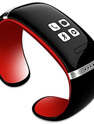 hhy moda l12s oled bluetooth bracelet watch music player / anti drop function id do chamador