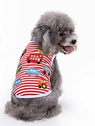 cheap -Dog Shirt / T-Shirt Vest Dog Clothes Geometic Red Cotton Costume For Pets Men's Women's Party Casual/Daily Birthday Fashion Sports Wedding
