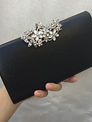 New Women's Fashion PU/Leather Formal Event/Party Wedding Evening Bag/Handbag/Clutch with Diamonds BLACK GOLD SILVER