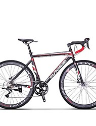 Cruiser Bike Cycling 14 Speed 26 Inch/700CC SHIMANO TX30 Disc Brake Non-Damping Steel Frame Carbon Anti-slip Aluminum Alloy Carbon Steel