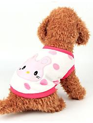 Недорогие -Собака Жилет Одежда для собак Мультипликация Белый / Желтый / Розовый Фланель Костюм Для домашних животных На каждый день
