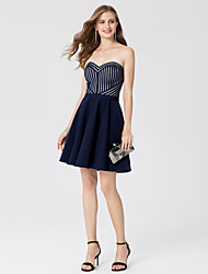 cheap -A-Line Princess Sweetheart Short / Mini Satin Cocktail Party Dress with Sash / Ribbon by TS Couture®