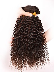 Virgin Brazilian Precolored Hair Weaves Kinky Curly Hair Extensions 3 Pieces Dark Brown