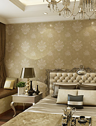 Floral Print Wallpaper For Home Modern/Contemporary Wall Covering , Non-woven fabric Material Adhesive required 2G Cell Phone , Room