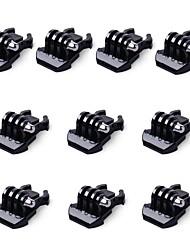 10x boucle clip montage basique pour gopro accessoires pour gopro hero 5 4 3 2 1 noir argent session sjcam sj4000 sj5000 sj6000 caméra