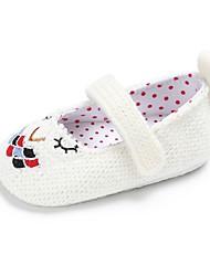 preiswerte -Mädchen Schuhe Stoff Frühling Herbst Kinderbett Schuhe Lauflern Komfort Flache Schuhe Flacher Absatz Runde Zehe Klettverschluss für