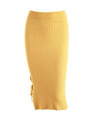 Недорогие -Для женщин Сексуальные платья На выход На каждый день Midi Подол,Облегающий силуэт Однотонный Осень