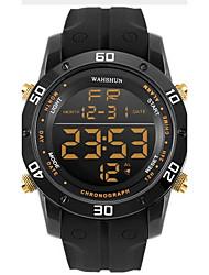 Недорогие -Муж. Спортивные часы Модные часы Повседневные часы Китайский Цифровой Календарь Секундомер Защита от влаги Фосфоресцирующий силиконовый