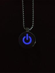 cheap -Couple's Circle Shape Personalized Luminous Fluorescent Illuminated Pendant Necklace Multi-stone Luminous Stone Pendant Necklace Party