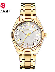 cheap -Men's Quartz Wrist Watch Japanese Hot Sale Alloy Band Charm Luxury Casual Dress Watch Elegant Fashion Cool Gold