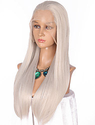 cheap -Women Synthetic Wig Lace Front Long Straight Grey Natural Hairline Cosplay Wig Natural Wigs Costume Wig