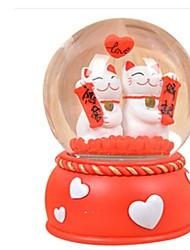 Bolas Caixa de música Brinquedos Circular Pato Cristal Peças Unisexo Aniversário Dia dos namorados Dom