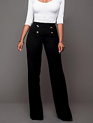 cheap -Women's Loose Bootcut Chinos Pants - Solid High Rise