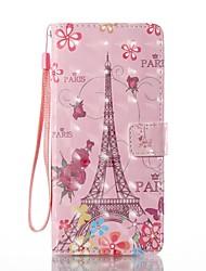 baratos -Capinha Para Samsung Galaxy NNote 8 Carteira Porta-Cartão Com Suporte Flip Estampada Corpo Inteiro Torre Eiffel Rígida Couro Ecológico