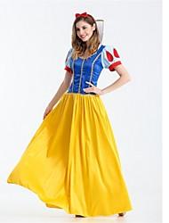 abordables -Princesse Neige Costume de Cosplay Halloween Fête / Célébration Déguisement d'Halloween Jaune Mode
