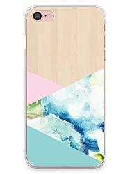 Pour iPhone X iPhone 8 Etuis coque Motif Coque Arrière Coque Apparence Bois Flexible PUT pour Apple iPhone X iPhone 8 Plus iPhone 8