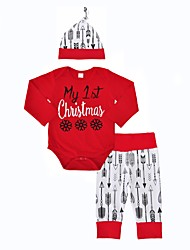 Baby Girl's Outdoor Indoor Christmas Casual Fashion Print Clothing Set,Animal Print Spring/Fall Winter