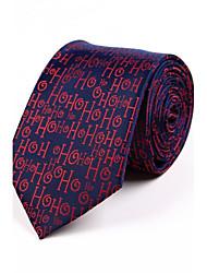 cheap -Men's Polyester Necktie,Irregular Style Jacquard All Seasons Navy Blue