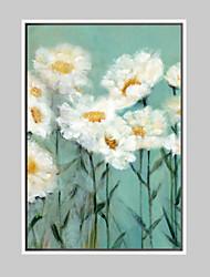 Floral/Botanical Framed Art Print Frame Art Wall Art,Alloy Material With Frame For Home Decoration Frame Art Living Room 1 Piece